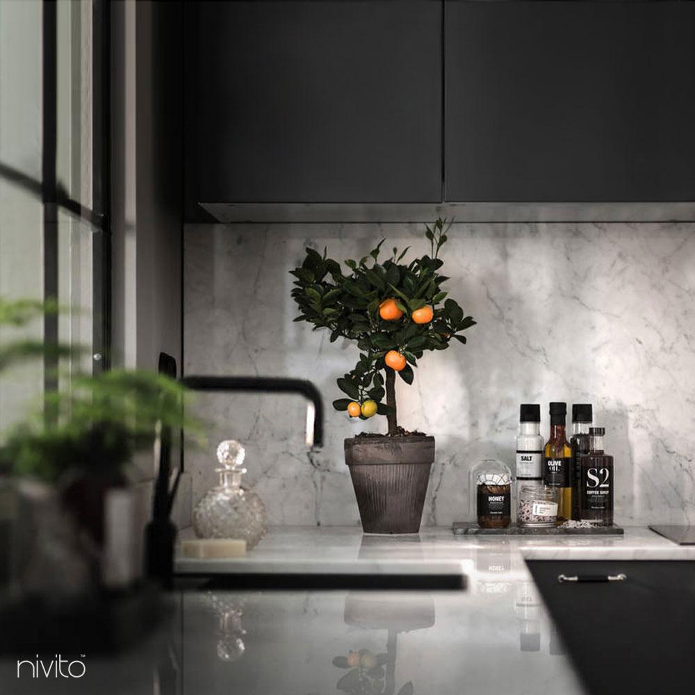 Black kitchen water single handle faucet