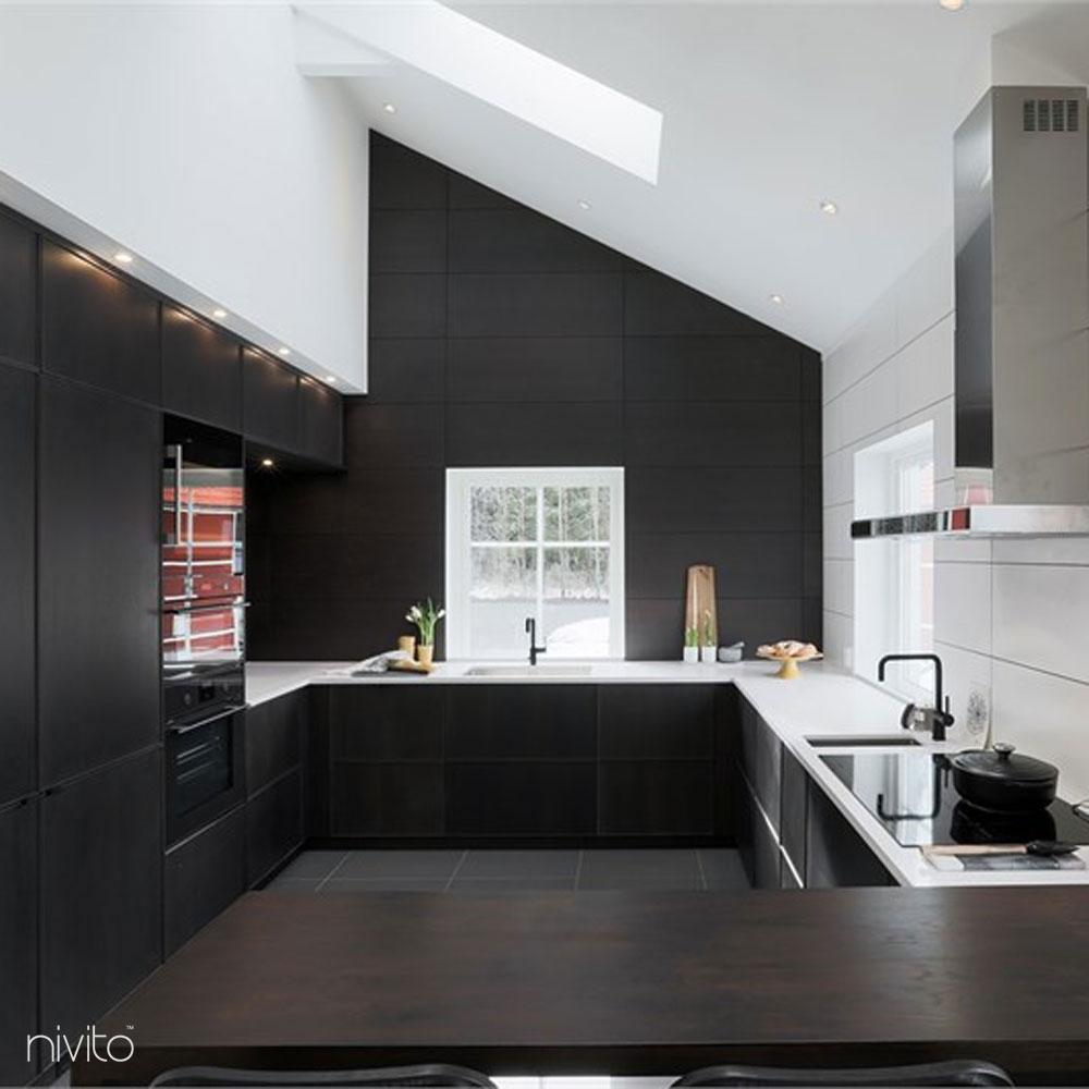 Kitchen water single handle faucet black