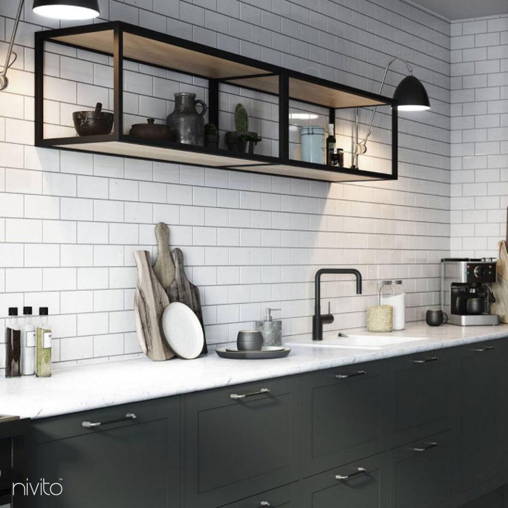 Black design single handle faucet