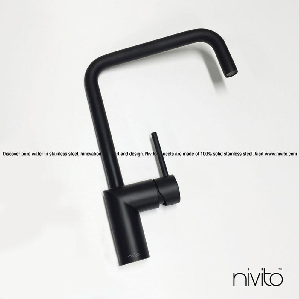 Black design single hole faucet