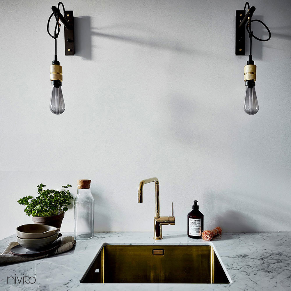 Gold brass water single handle faucet