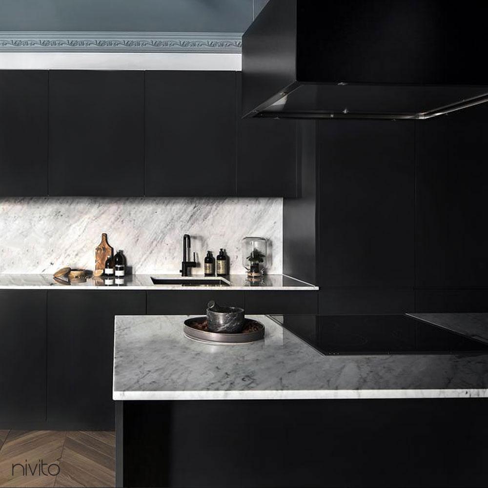 Black kitchen single handle faucet