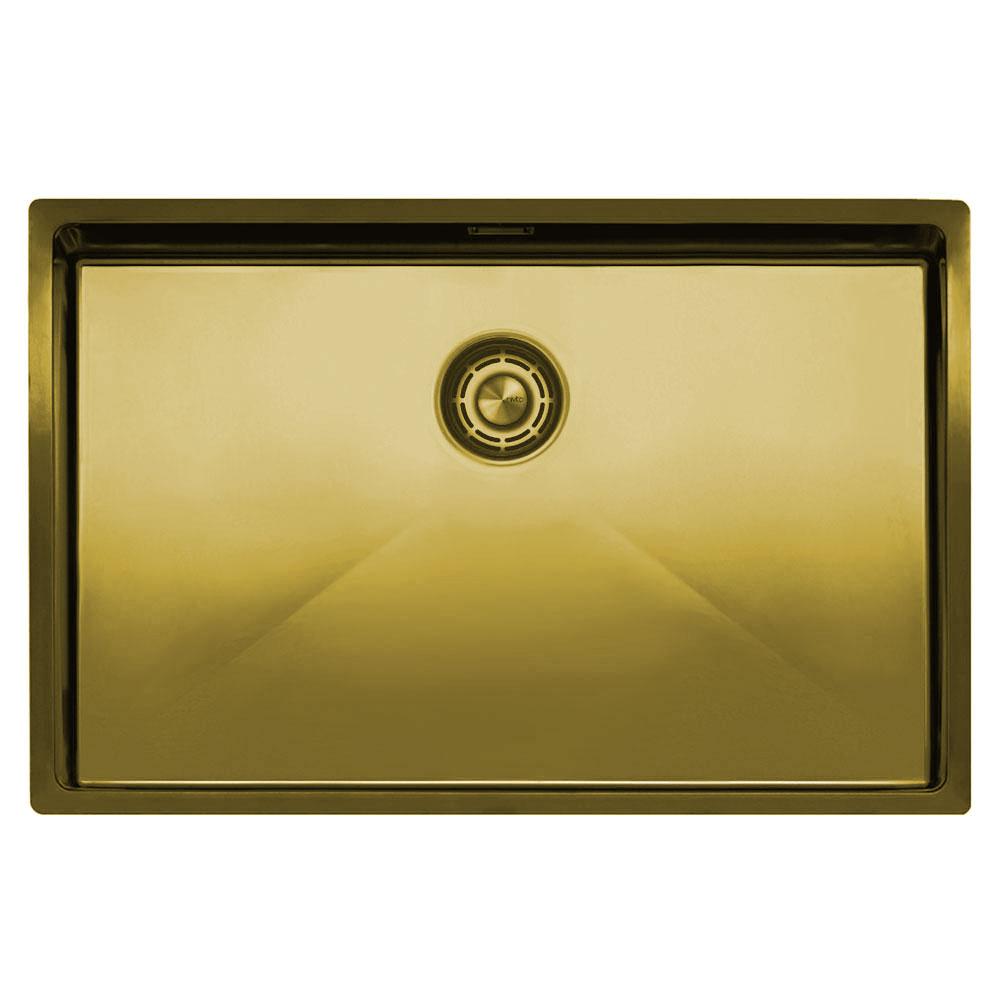 Brass/Gold Kitchen Basin - Nivito CU-700-BB