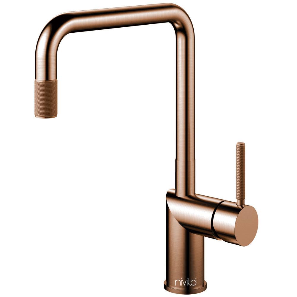 Copper Single Hole Kitchen Faucet - Nivito RH-350-IN