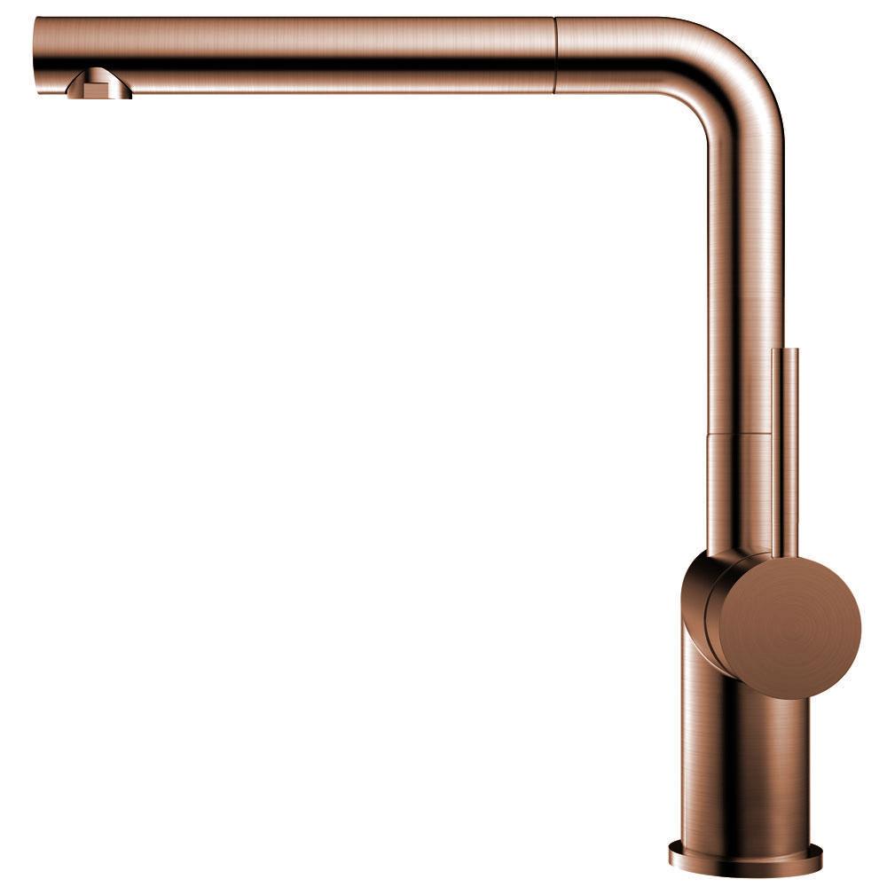 Copper Single Hole Kitchen Faucet Pullout hose - Nivito RH-650-EX