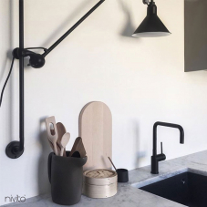 Single hole kitchen faucet black