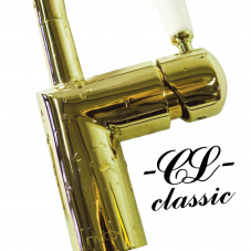 Brass/Gold Kitchen Faucet - Nivito 4-CL-160