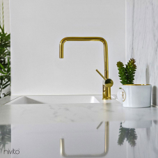 Brass/Gold Kitchen Faucet - Nivito 6-RH-360