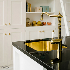 Brass/Gold Kitchen Faucet - Nivito 1-CL-160