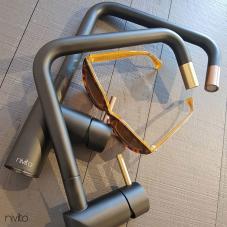 Brass/Gold Kitchen Faucet Black/Gold/Brass - Nivito 1-RH-340-BISTRO