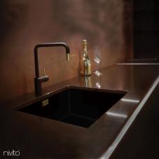 Brass/Gold Kitchen Faucet Black/Gold/Brass - Nivito 2-RH-340-BISTRO