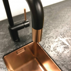 Copper Kitchen Faucet Black/Copper - Nivito 2-RH-350-BISTRO