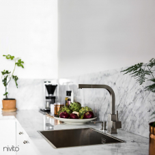 Stainless Steel Kitchen Faucet - Nivito 1-SP-300