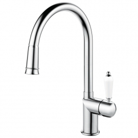 Stainless Steel Single Hole Kitchen Faucet Pullout hose - Nivito CL-200