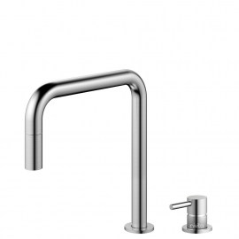 Stainless Steel Single Hole Kitchen Faucet Pullout hose / Seperated Body/Pipe - Nivito RH-300-VI