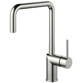 Stainless Steel Single Hole Kitchen Faucet - Nivito RH-300