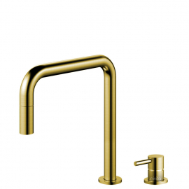 Brass/Gold Single Hole Kitchen Faucet Pullout hose / Seperated Body/Pipe - Nivito RH-340-VI
