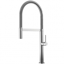 Stainless Steel Single Hole Kitchen Faucet Pullout hose - Nivito SH-100